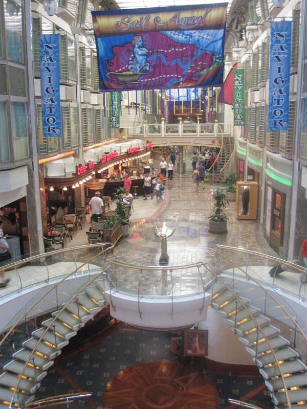 The Royal Promenade of the Navigator of the Seas.